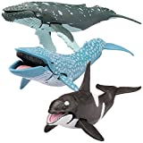 Kid Galaxy Posable Toys. Humpback, Blue, and Killer Whale Figurines. Ocean Animal Figure Playset (3 Piece)