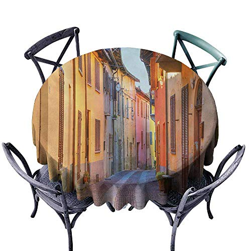 - Zllickd Restaurant Tablecloth Italy Narrow Paves Street Among Old Houses in Town Serralunga DAlba Piedmont Pale Orange Brown Pink Party D43