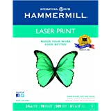 Hammermill Paper, Laser Print, 24lb, 8.5 x 11, 98 Bright, 500 Sheets / 1 Ream (104604)