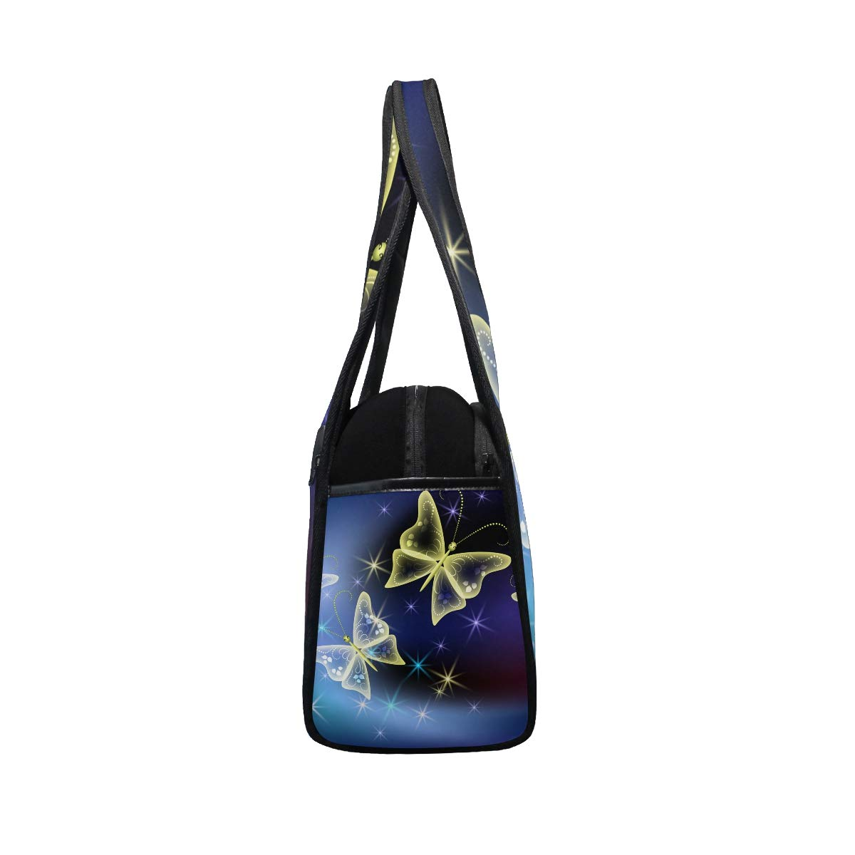 Gym Bag Sports Holdall Butterfly Canvas Shoulder Bag Overnight Travel Bag for Men and Women