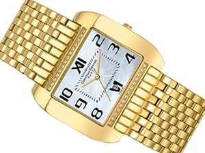 Christian Bernard MT359ZWX - Reloj de caballero de cuarzo, correa de acero inoxidable color oro