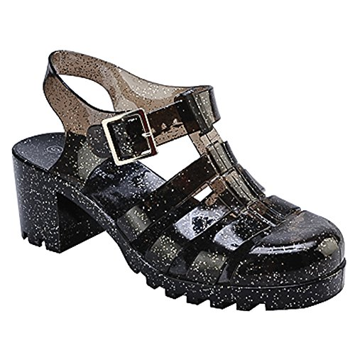 Jelly Shoes (New Women Summer Retro Jelly Slingback Sandals)