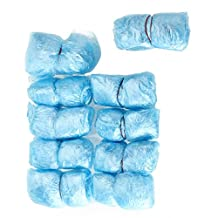 Refaxi 100 Blue Disposable Shoe Covers Overshoes for Shoes And Boots, Protect Carpets & Floors / Clean Room.