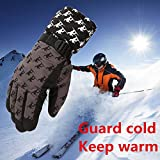 FidgetFidget Gloves for Outdoor Adult Winter Warm Waterproof Windproof Snow Snowboard Ski Sports Coffee