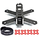 Readytosky H210 210mm FPV Racing Drone Frame Kit Pure Carbon Fiber Quadcopter Frame with LiPo Battery Strap