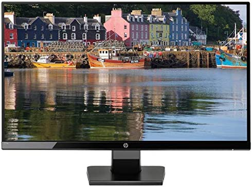 """2019 New HP - 27w 27\"""" IPS 1920 x 1080 LED FHD Monitor, 16:9 Aspect Ratio, 178° Horizontal and Vertical Viewing Angles, VGA and HDMI inputs, 10,000,000:1 Contrast Ratio, Black Onyx"""