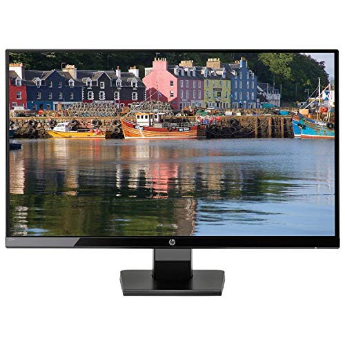 "2019 New HP - 27w 27"" IPS 1920 x 1080 LED FHD Monitor, 16:9 Aspect Ratio, 178° Horizontal and Vertical Viewing Angles, VGA and HDMI inputs, 10,000,000:1 Contrast Ratio, Black Onyx"