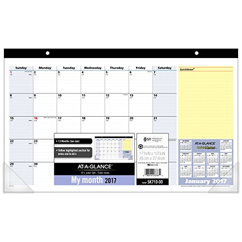 GLANCE Calendar Monthly QuickNotes SK710 00