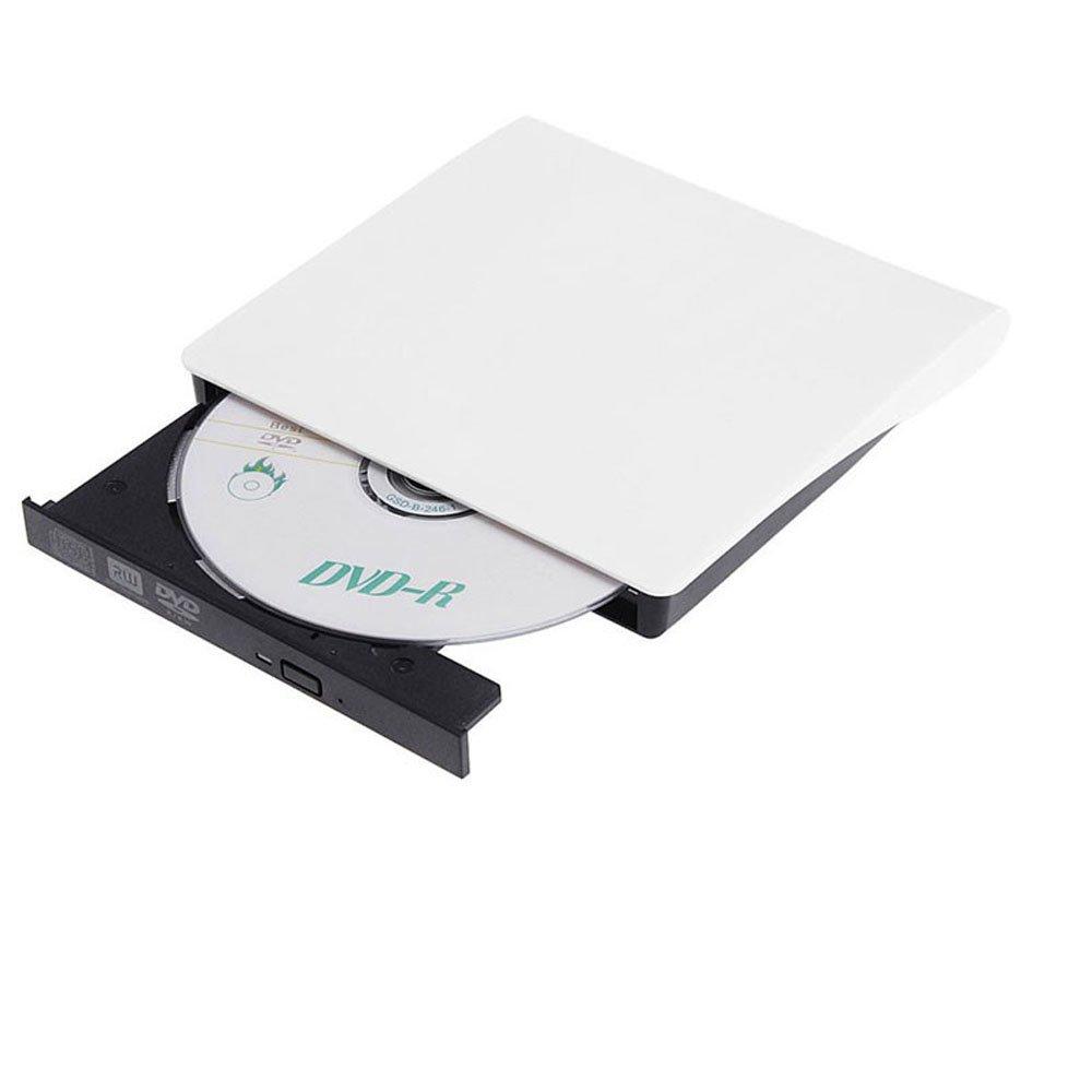 Padarsey DVD Drive for Laptop, Sibaok Portable USB 3.0 DVD-RW Player CD Drive, Optical Burner Writer Rewriter for Mac Computer Notebook Desktop PC Windows 7/8/10, Slim White by Padarsey (Image #6)