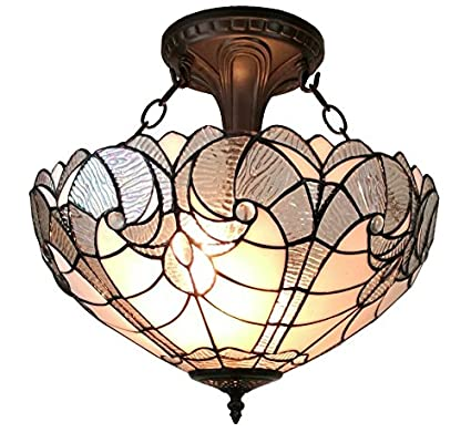 256c7c3cc140 Image Unavailable. Image not available for. Color  Amora Lighting AM216HL16 Tiffany  Style Semi Flush Mount Ceiling ...