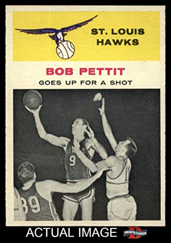 Amazon.com: 1961 Fleer # 59 In Action Bob Pettit St. Louis Hawks (Basketball Card) Deans Cards 6 - EX/MT Hawks: Collectibles & Fine Art