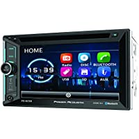 POWER ACOUSTIK PD-623B 2-DIN DVD, CD/MP3, AM/FM Receiver 2/ 6.2 LCD & Bluetooth 4.0, Black