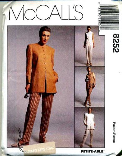mccalls-sewing-pattern-8252-misses-lined-jacket-vest-pants-jones-new-york-size-10