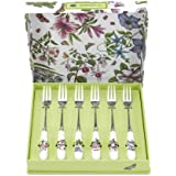 Portmeirion Botanic Garden Pastry Forks, Set of 6