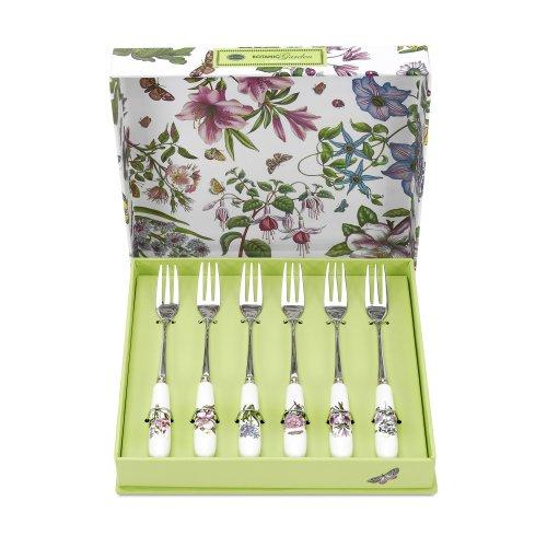 Portmeirion Botanic Garden Pastry Forks, Set of 6 (Botanic Garden Spoon)