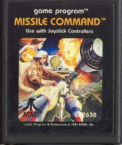 Anticuria Missile Command Vintage Atari 2600 Video Game Cartridge