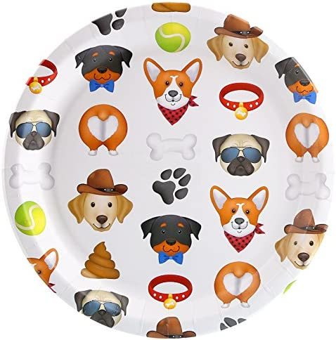 Puppy Dog Paw-ty Party Dinner Plate (8)
