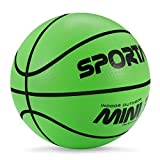SportAI Small Green Basketball Mini Cute Basketball for Kids Soft and Bouncy,Eco-Friendly and Safe to Play with Whole Family,5' Toddler Basketball