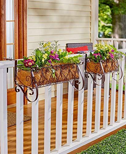 Decorative Rail or Fence Planter Small Decorative Rail or Fence Planter Small