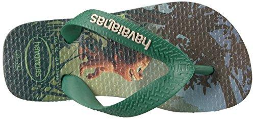 Pictures of Havaianas Kids Flip Flop Sandals, The Good Dinosaur, (Toddler/Little Kid),Green Tea, Green Tea,33/34 BR (3-4 M US Little Kid) 2