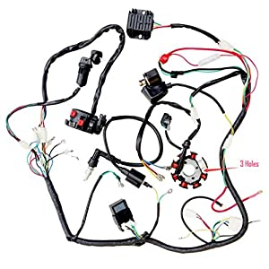 engine wiring harness for gy6 150cc engine automotive parts minireen complete wiring harness kit wire loom electrics stator coil cdi for 150cc 200cc 250cc 300cc