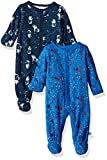 Rosie Pope Baby Boys Coveralls 2 Pack, Astronaut, 0-3 Months