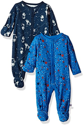Baby Coverall (Rosie Pope Baby Boys Coveralls 2 Pack, Astronaut, 6-9 Months)