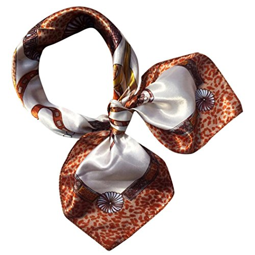 Scarf,Han Shi Women Fashion Plaid Print Square Headscarf Wraps Scarves Kerchief Neckpiece (M, G)