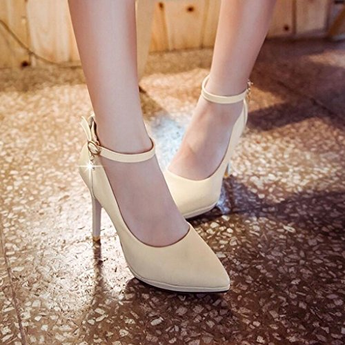 Cjc Tacchi Sandali Dolce Semplice Bianco Baotou Elegante Alti Sexy Moda dUqZ5wfq