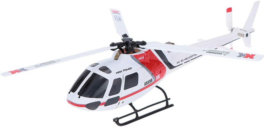 XK K123 6CH Brushless AS350 Scale RC Helicopter RTF Mode 2 For Kids Children Neu