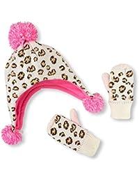 Girls Animal Print Set Beanie Hat