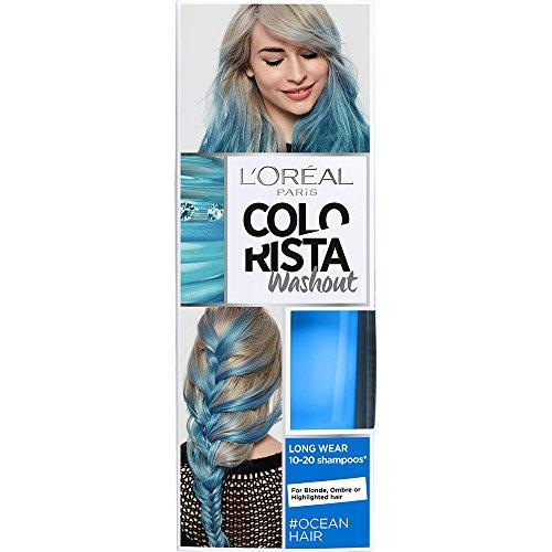 🥇 L'Oreal Paris Colorista Coloración Temporal Tono Washout Ocean Hair – 116 gr