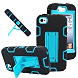 iphone 4 case robot - iPhone 4s case, iPhone 4 case, MagicSky Robot Series Hybrid Armored Case with Kickstand for Apple iPhone 4/4S - 1 Pack - Retail Packaging - Blue/Black