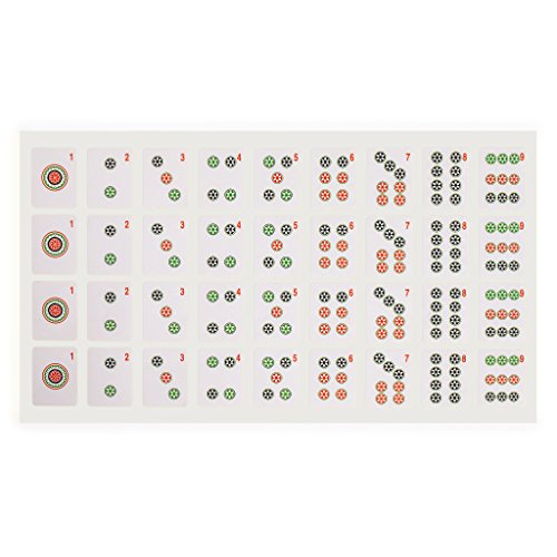Yellow Mountain Imports American Mah Jongg (Mahjong, Mah Jong, Mahjongg, Mah-Jongg, Majiang) Tile Decals (Stickers), Set of 180