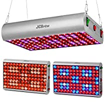 JCBritw LED Grow Light with Daisy Chain 30W Plus Plant Lights for Indoor Plants Growing Lamps Full Spectrum with Red Blue UV Veg Bloom for Greenhouse Hydroponic Seedlings, Vegetable and Flower