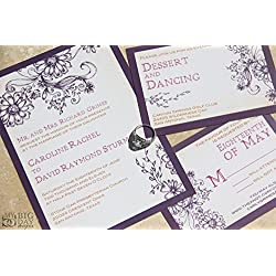 The Enchanted Garden Wedding Invitation Sample Set