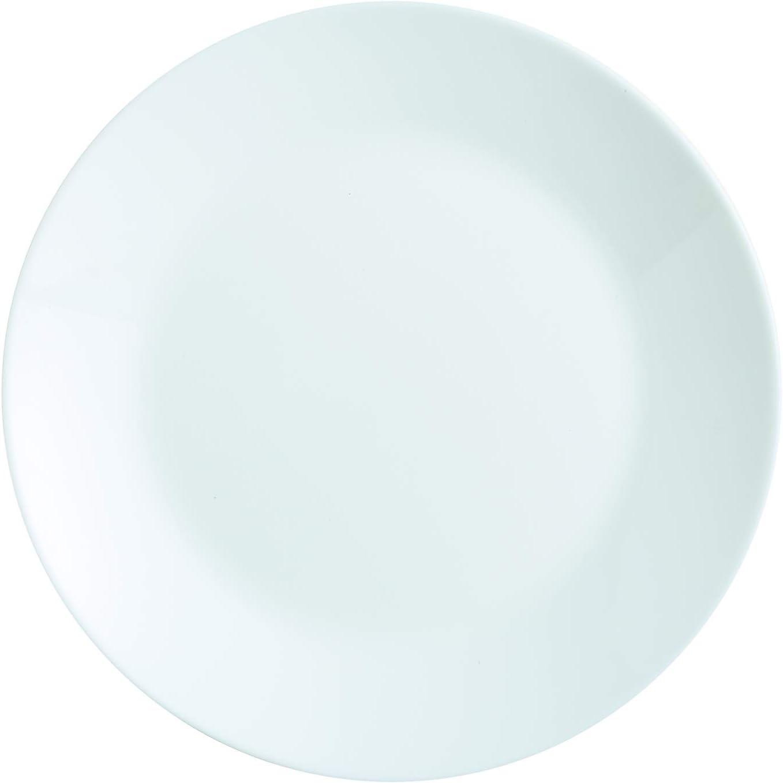 Dajar Zelie Arcoroc - Plato Llano (25 cm, Cristal), Color Blanco ...