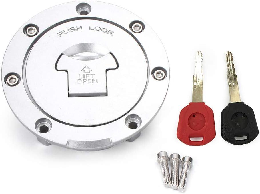 Silber 14 CBR600 91 GZYF Motorrad Gas Tank Cover Fuel Tank Cap Lock Schl/üssel f/ür CBR600RR 03 98