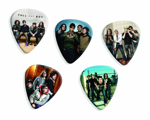 Fall Out Boy 5 Loose Playable Guitar Picks Plectrums Medium Gauge Set #A