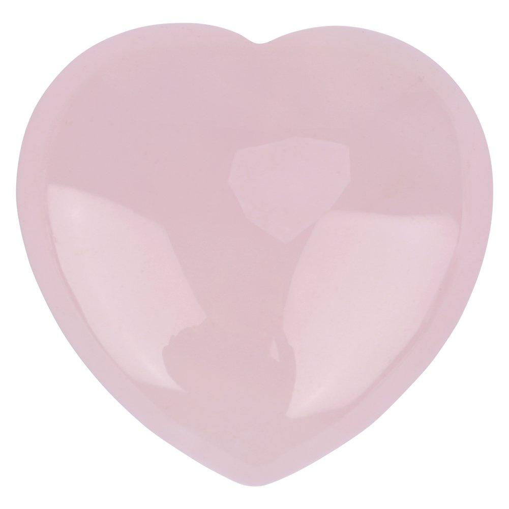Cristallo Rose Quartz Stone Naturale a Forma di Cuore Rosa, Decorazione Pietra Naturale di Quarzo Rosa Guarigione per La Casa, L'ufficio L' ufficio Wal front