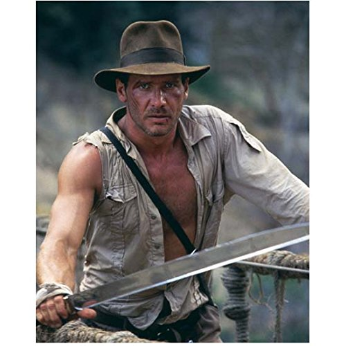 Harrison Ford as Indiana Jones on bridge in Indian Jones and the Temple of Doom 8 x 10 Inch Photo (Indiana Jones Movie Memorabilia)