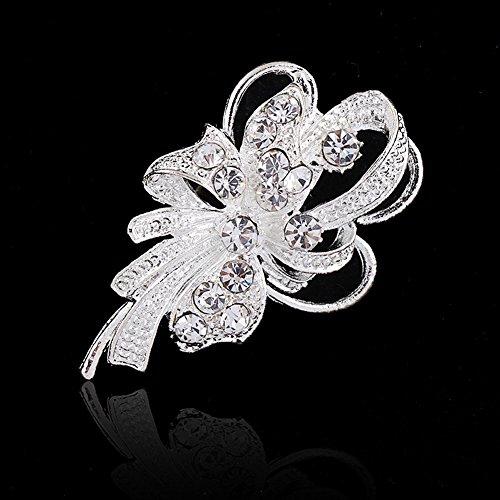 Lamdoo 1PC Vintage Women Rhinestone Brooch Wedding Bridal Pin Jewelry Gifts Hot ()