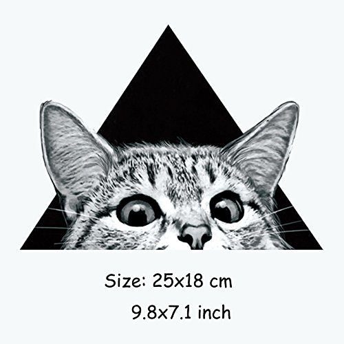 - Cat Iron - Grey Cats Kids Clothes Patches Stickers Iron On Heat Transfers Diy Decoration Appliqued Parches - Carpet Armor Scissors Animal Tool Butter Reward Health Incredibubbles Book Acce