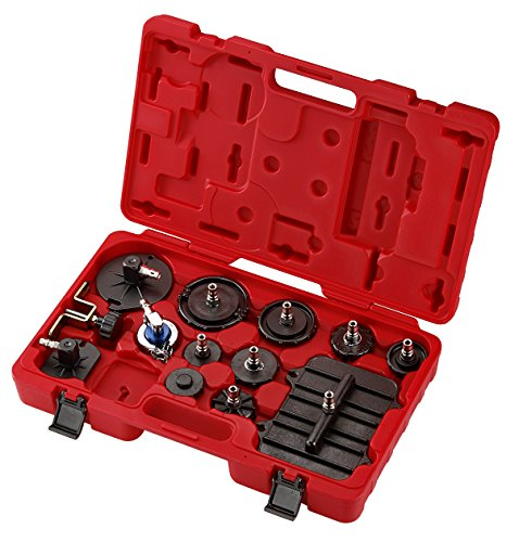 OI9068 COMPLETE 12PC. MASTER CYLINDER BRAKE BLEEDER ADAPTER KIT SET GM CHRYSLER FORD MAZDA HONDA TOYOTA LEXUS BMW AUDI NISSAN MITSUBISHI JAPANESE EUROPEAN CARS ()