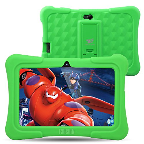 Dragon Touch Y88X Plus 7 inch Kids Tablet 2017 Disney Edition, Android 5.1 Lollipop, IPS Display, Kidoz Pre-Installed w/ Bonus Disney Content (more than $60 Value)-Green