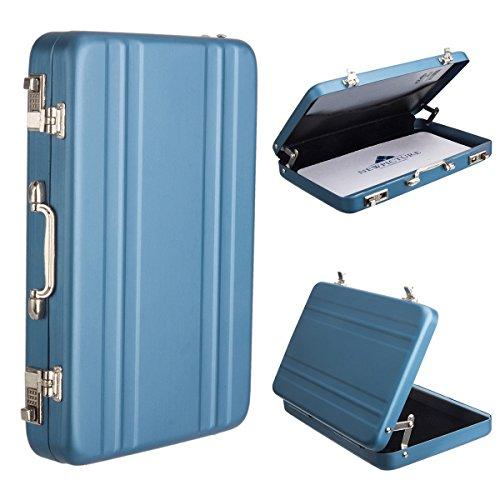 [Fujifilm Instax Mini Portable Photo/Card Case] WoodminCreative Comprehensive Premium Aviation Aluminum Case for Fuji Instant Mini Films/ Business Cards/ ID Cards (Blue) (Slim Mini Refrigerator compare prices)
