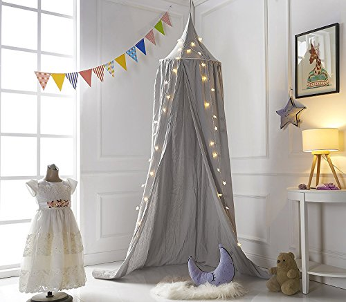 A LOVE BRAND 94.5×19.6 Inch Bed Canopy Cotton Mosquito Net for (Play Tent Canopy)