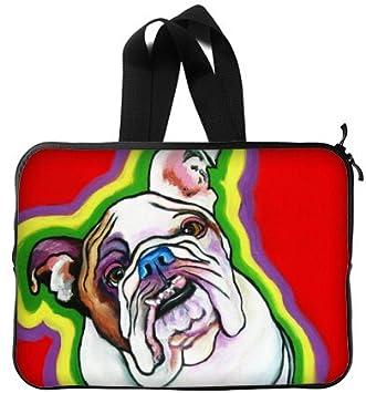 Bulldog de 13 Pulgadas Mango Bolsa de Transporte Funda Blanda para Ordenador portátil (Doble Lados): Amazon.es: Electrónica
