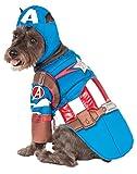 pet costume captain america - Rubie's Avengers Assemble Deluxe Captain America Pet Costume, Large