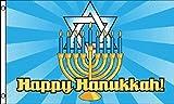 Happy Hanukkah Flag 3' x 5' Jewish Holiday Decoration Banner Party Pennant